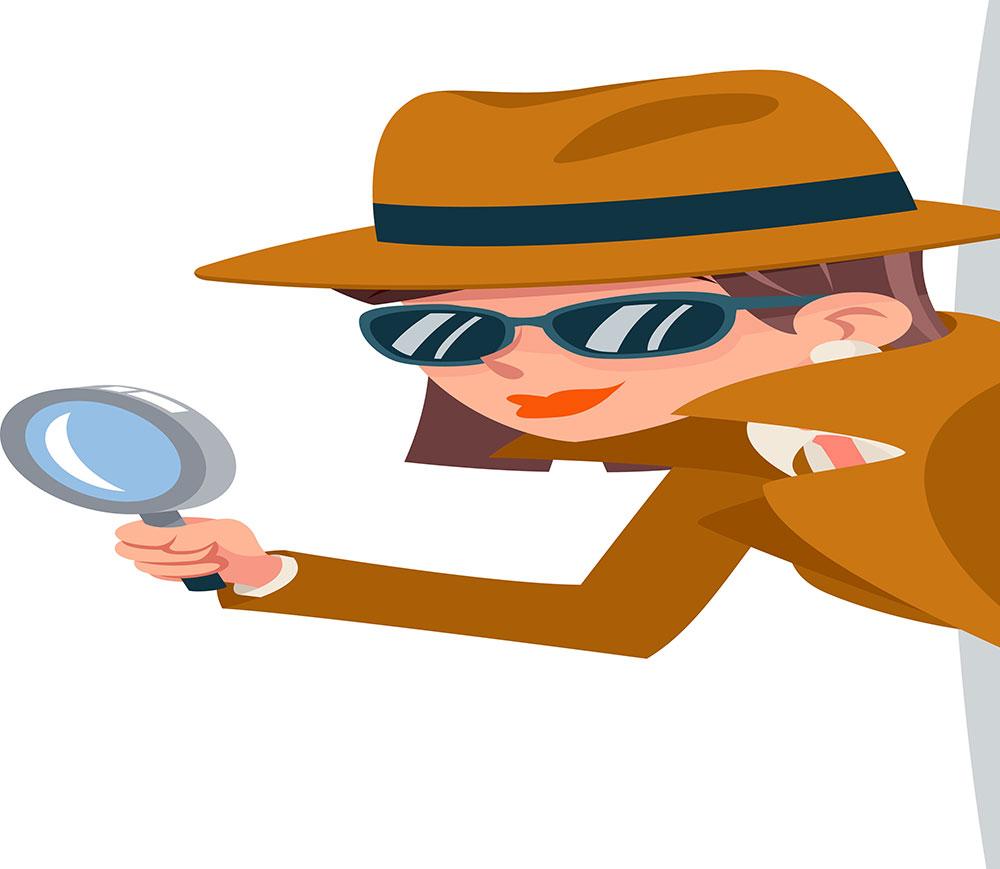 detective cartoon